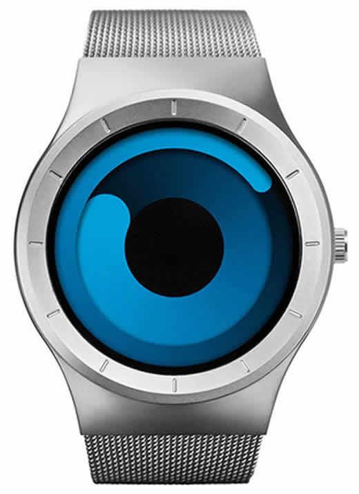 Relógio Futurista Criativo Homens Top Marca de Luxo Casual Relógio Unisex Relógio Banda Malha de aço Inoxidável feminino Masculino 6004 SSU