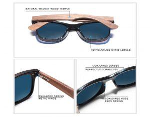 Óculos de Sol Armação em Madeira Sport KINGSEVEN Original Descrição