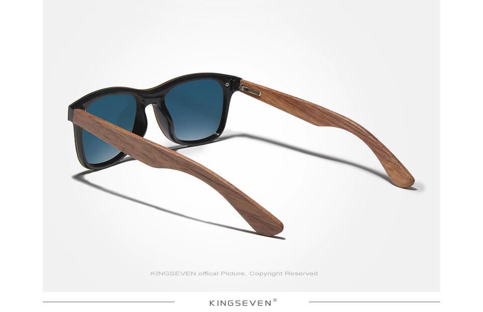 Óculos de Sol Armação em Madeira Sport KINGSEVEN Original Hastes de Madeira
