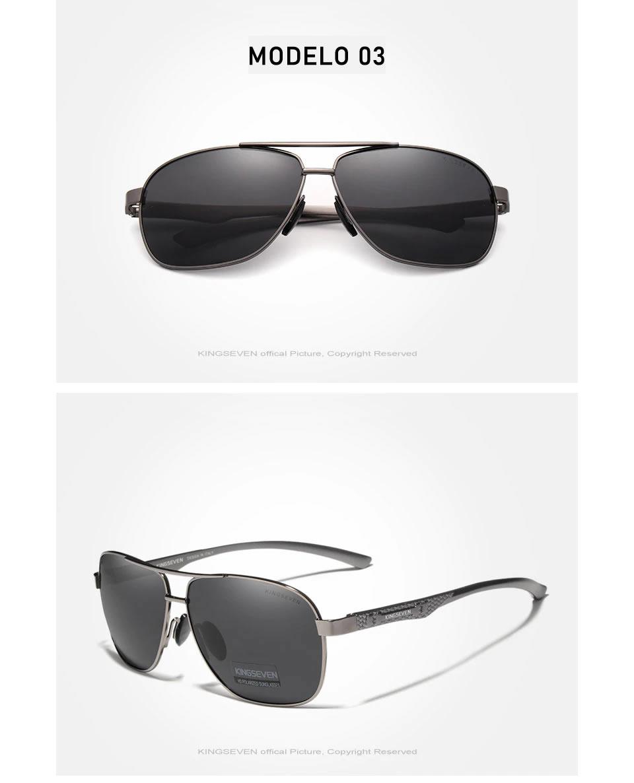 Óculos de Sol Masculino Aviador Original KINGSEVEN Militar Army