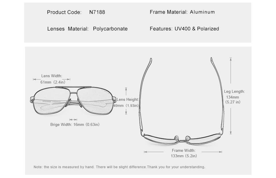 Óculos de Sol Masculino Aviador Original KINGSEVEN da Moda