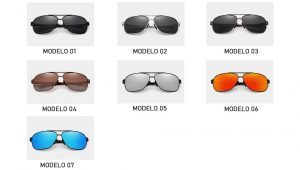 Óculos de Sol Masculino Aviador Original KINGSEVEN Modelos