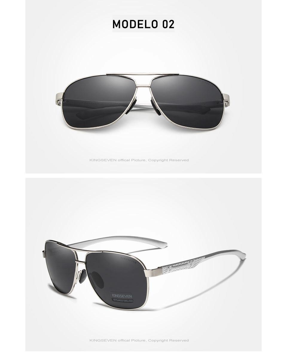 Óculos de Sol Masculino Aviador Original KINGSEVEN Espelhado