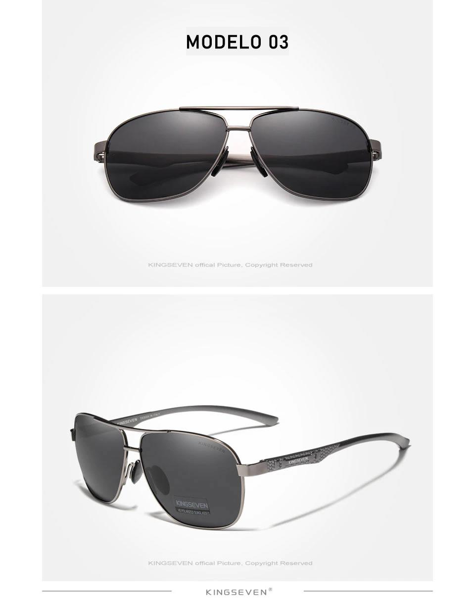 Óculos de Sol Masculino Aviador Original KINGSEVEN Modelo Militar