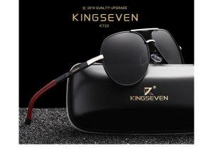 Óculos de sol Masculino Polarizado Magnésio KingSeven N725 Porta Óculos Estojo