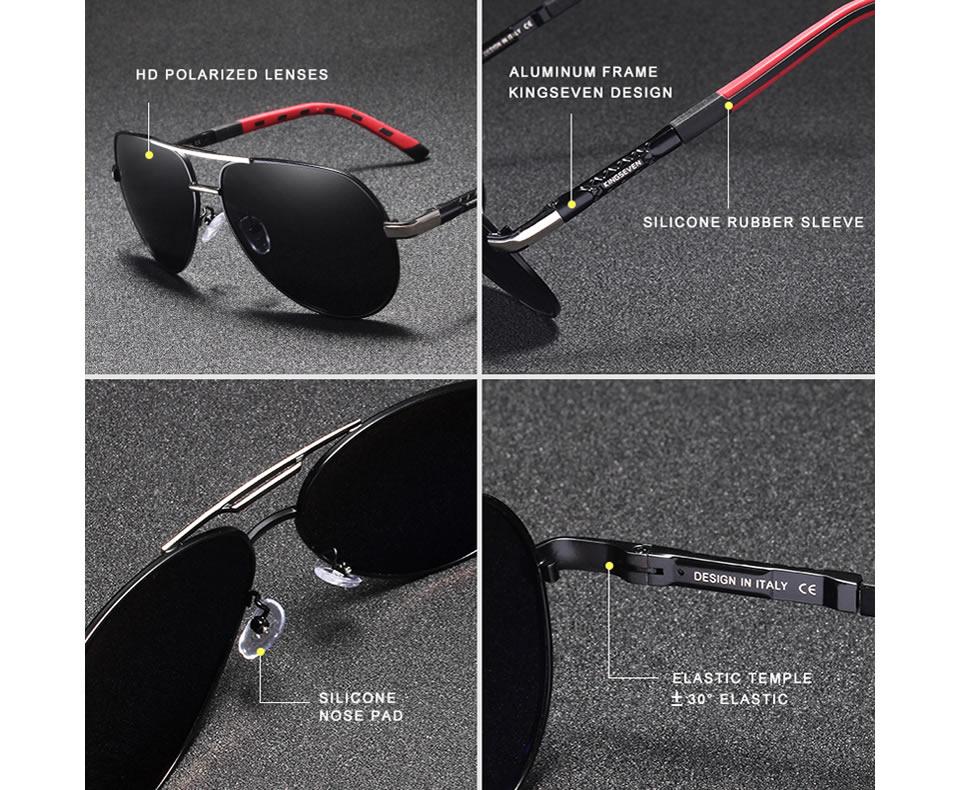 Óculos de sol Masculino Polarizado Magnésio KingSeven N725 Medidas