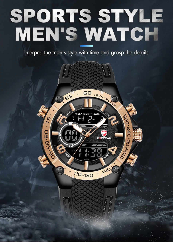 Relógio Cheetah de Luxo Masculino Militar Esportivo Marca