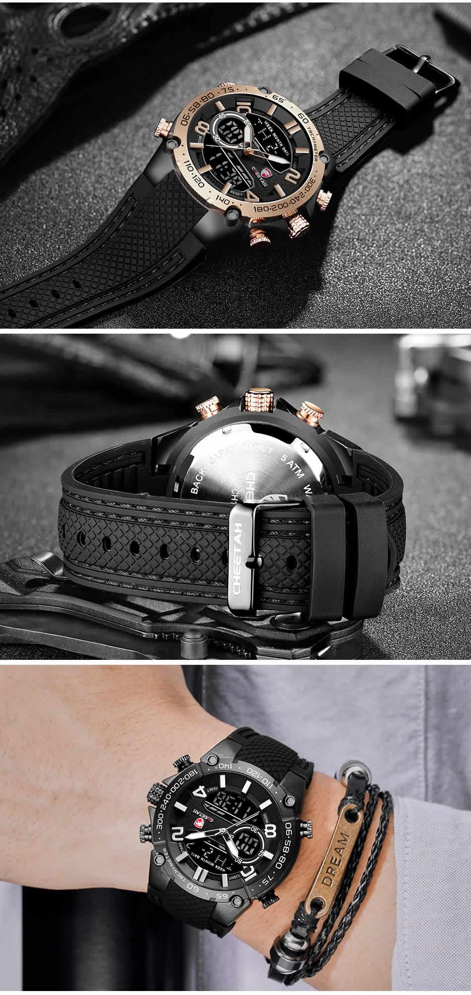 Relógio Cheetah de Luxo Masculino Militar Esportivo Luminiso de Luxo Pulseira
