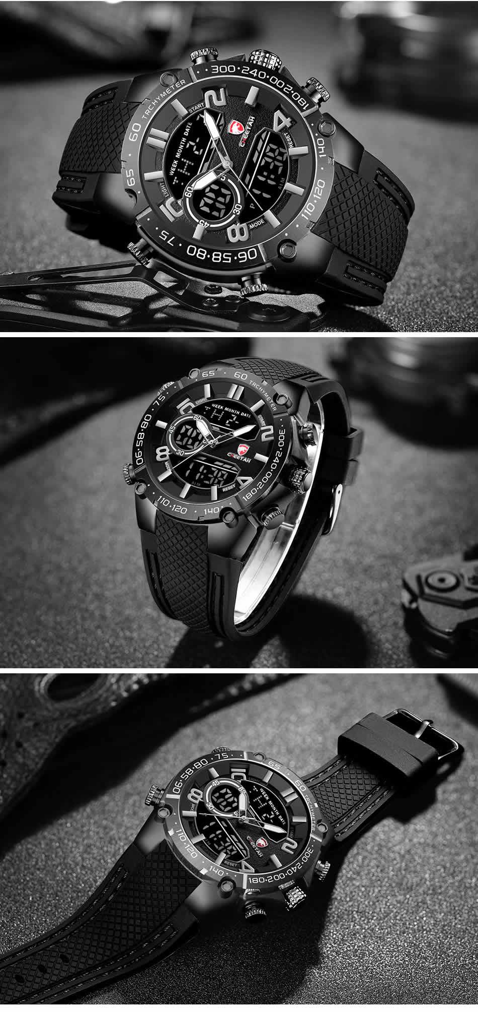 Relógio Cheetah de Luxo Masculino Militar Esportivo Luminiso de Luxo Painel