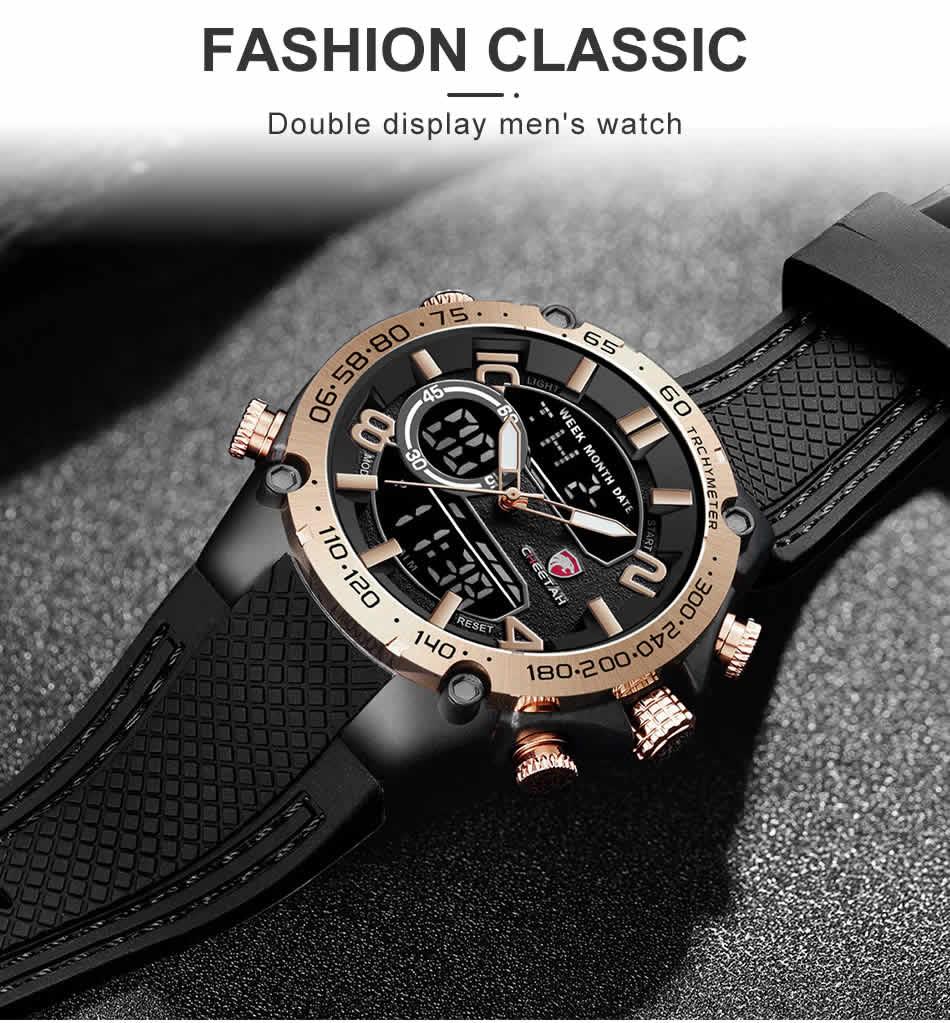 Relógio Cheetah de Luxo Masculino Militar Esportivo Moda Marca