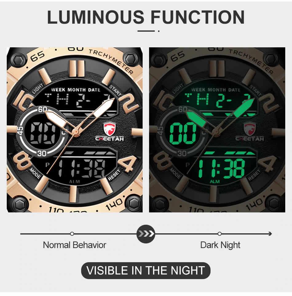 Relógio Cheetah de Luxo Masculino Militar Esportivo Luminiso de Luxo