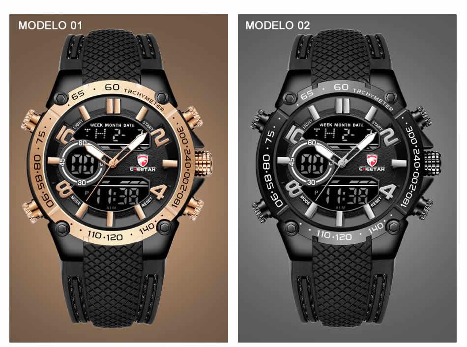 Relógio Cheetah de Luxo Masculino Militar Esportivo