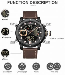 relógio naviforce original masculino militar caracteristicas