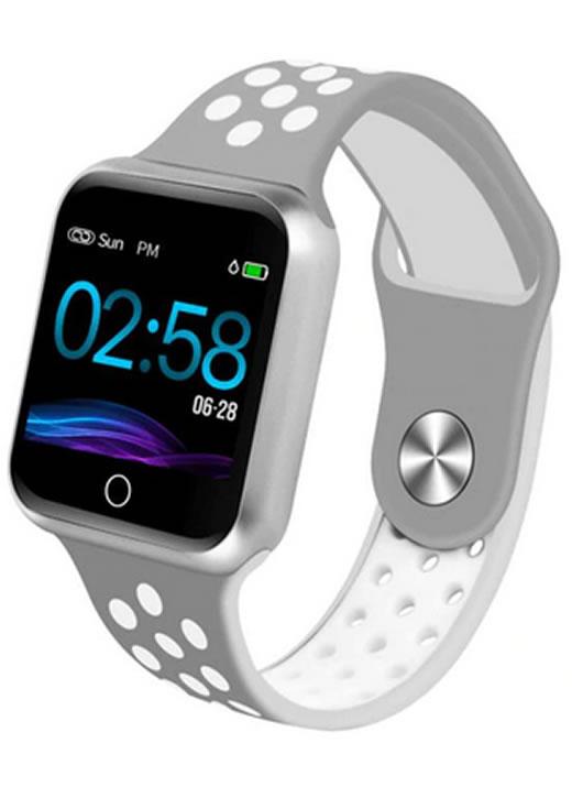 Relógio Smartwatch OLED Pró Série 2 - Android ou iOS Cinza Branco