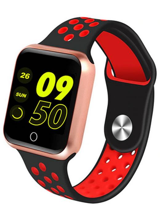 Relógio Smartwatch OLED Pró Série 2 - Android ou iOS Preto e Vermelho e Rosa