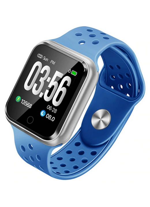 Relógio Smartwatch OLED Pró Série 2 - Android ou iOS Azul