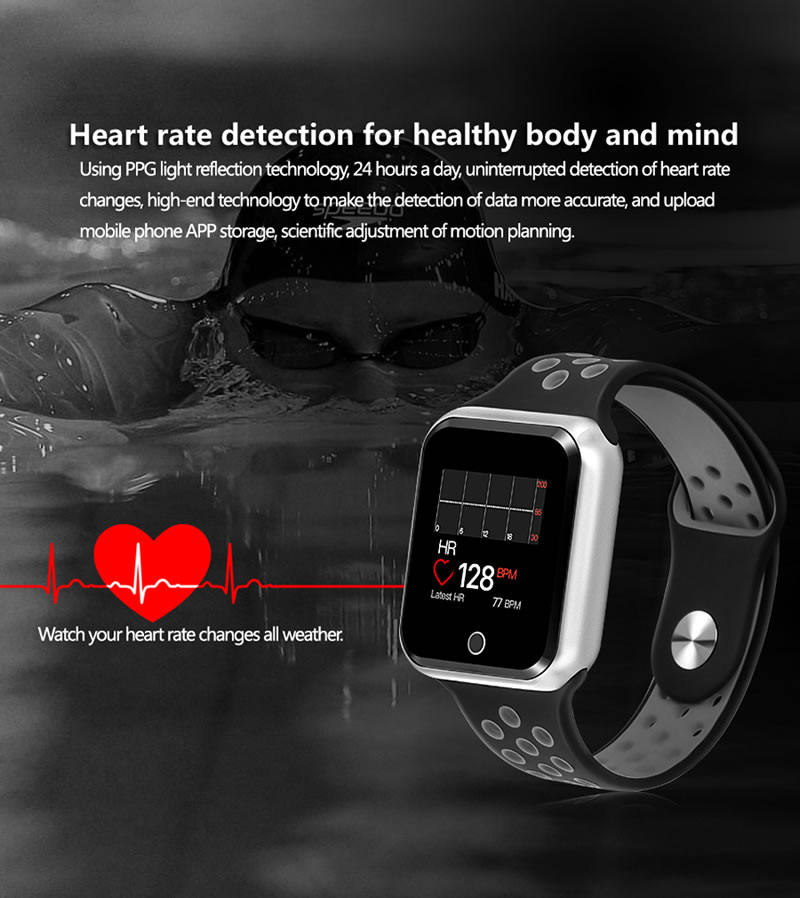 Smart Watch PRO 2019 a Prova d'agua Gráfico Monitoramento Cardiaco