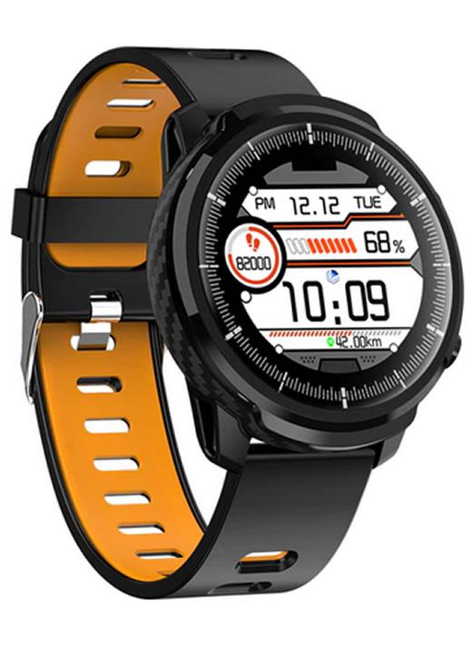 Relógio Smartwatch CF L3 Azul - iPhone ou Android - Conexão com Strava Orang