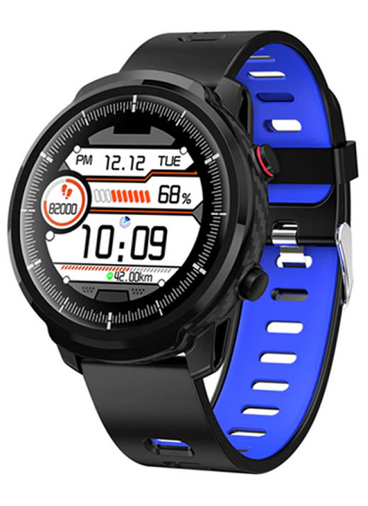 Relógio Smartwatch CF L3 Silicone - iPhone ou Android Azul