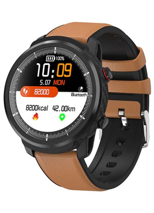 Relógio Smartwatch CF L3 Orang - iPhone ou Android - Conexão com Strava Marrom