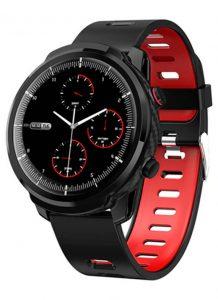 Relógio Smartwatch CF L3 Preto - iPhone ou Android - Conexão com Strava Vermelho