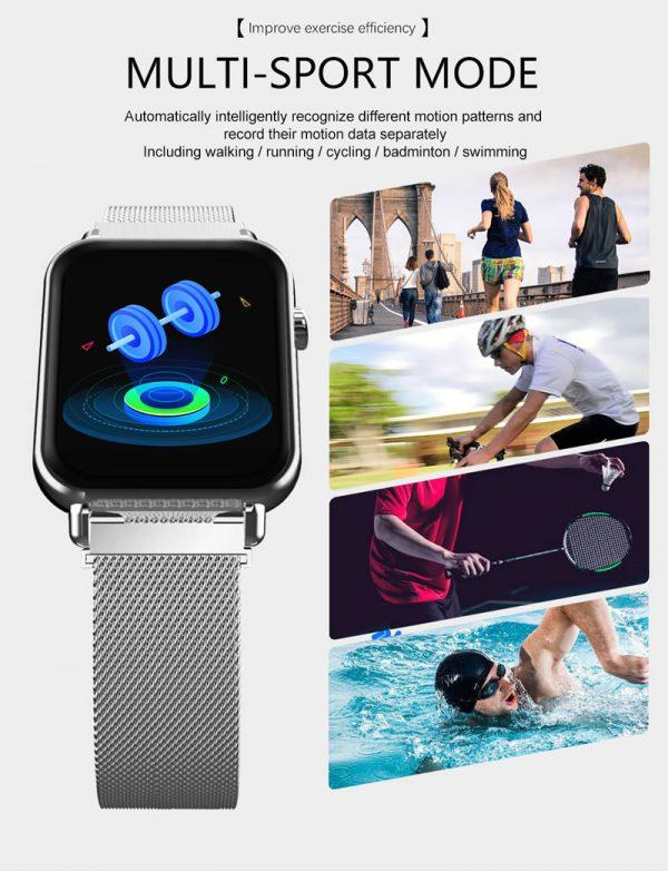 Smartwatch Relógio Eletrônico Y6 Pro Style Exercicios