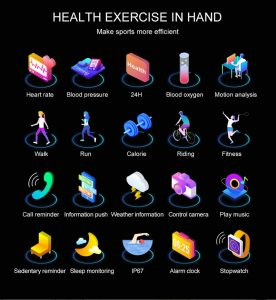 Smartwatch Relógio Eletrônico Y6 Pro Style Funcionalidades