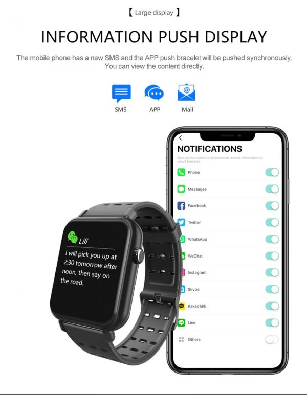 Smartwatch Relógio Eletrônico Y6 Pro Style Notificações