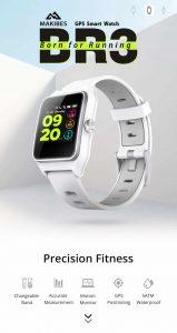 Relógio Makibes Br3 M23 Gps/ Corrida/ Ciclismo/ Strava Ip68 Inteligente