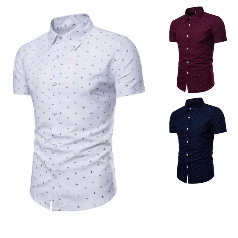 Camisa Masculina Slim Fit Colorida