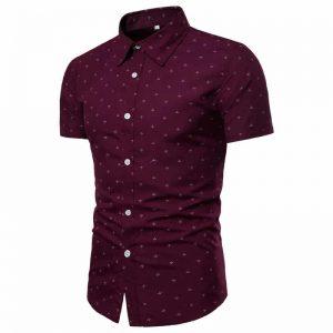 Camisa Masculina Slim Fit Vermelha