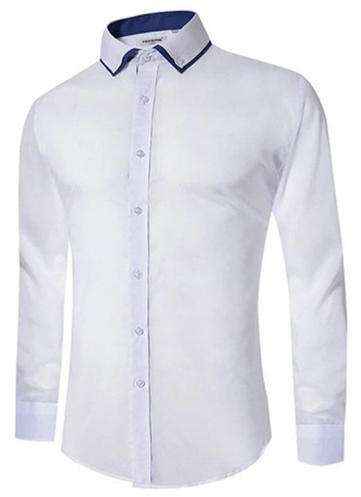Camisa Masculina Slim Fit Mixers Branca