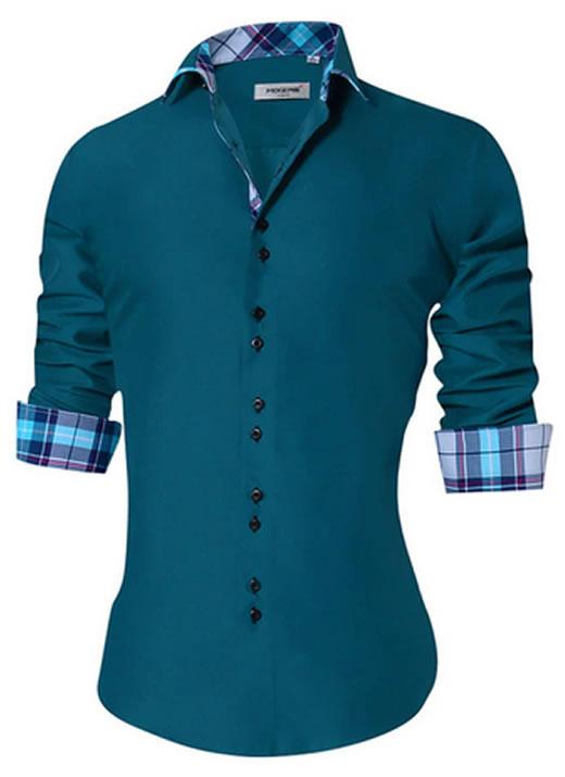 Camisa Masculina Slim Fit Mixers Verde Xadrez