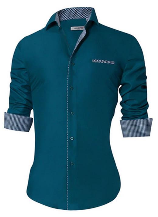 Camisa Masculina Slim Fit Mixers Verde Fit