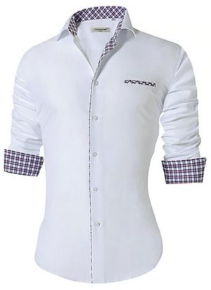 Camisa Masculina Slim Fit Mixers Branca Degrade