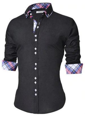 Camisa Masculina Slim Fit Mixers Preta Xadrez