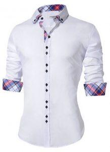 Camisa Masculina Slim Fit Mixers Branca Xadrez