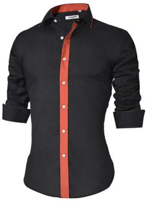 Camisa Masculina Slim Fit Mixers Preta Fit