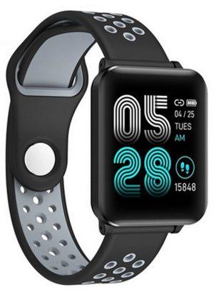 Smartwatch Relógio Eletrônico Y61 P1 Pro Style Cor Cinza Pulseira de Silicone P1