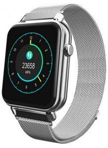 Smartwatch Relógio Eletrônico Y62 Pro Style Cor Prata Pulseira de Aço