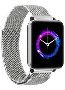 Smartwatch Relógio Eletrônico Y61 P1 Pro Style Cor Prata Pulseira de Aço P1