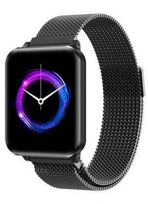 Smartwatch Relógio Eletrônico Y62 P1 Pro Style Cor Preto Pulseira de Aço