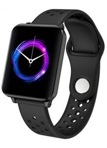 Smartwatch Relógio Eletrônico Y61 P1 Pro Style Cor Preto Pulseira de Silicone