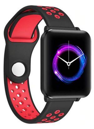 Smartwatch Relógio Eletrônico Y61 P1 Pro Style Cor Vermelho/Preto Pulseira de Silicone