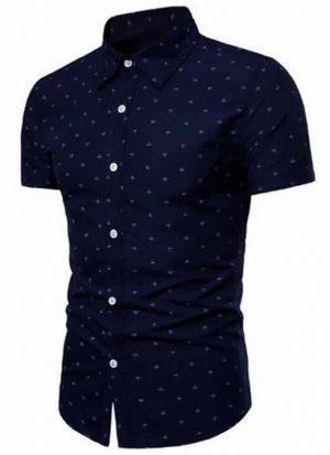 Camisa Slim Fit Azul Marinho