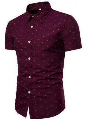 Camisa Slim Fit Vermelha