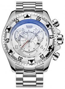 Relógio Temeite Reserve Prata Branco