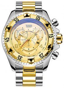 Relógio Temeite Reserve Prata Dourado