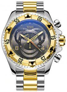 Relógio Temeite Reserve Prata Dourado Preto