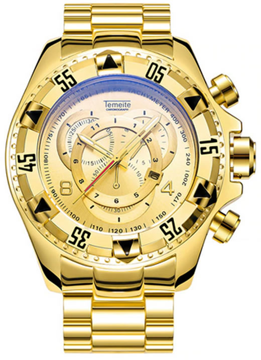 Relógio Temeite Reserve Dourado